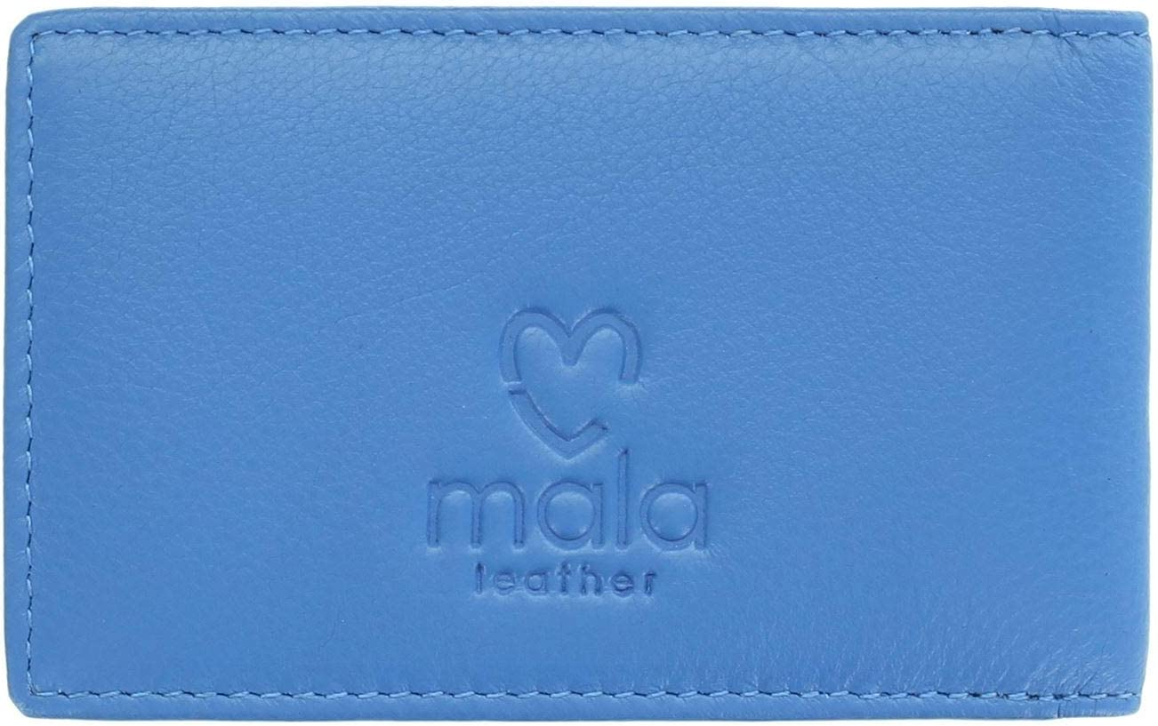 Mala Leather Bella Collection Leather Credit Card Holder RFID 641/_33 Blue