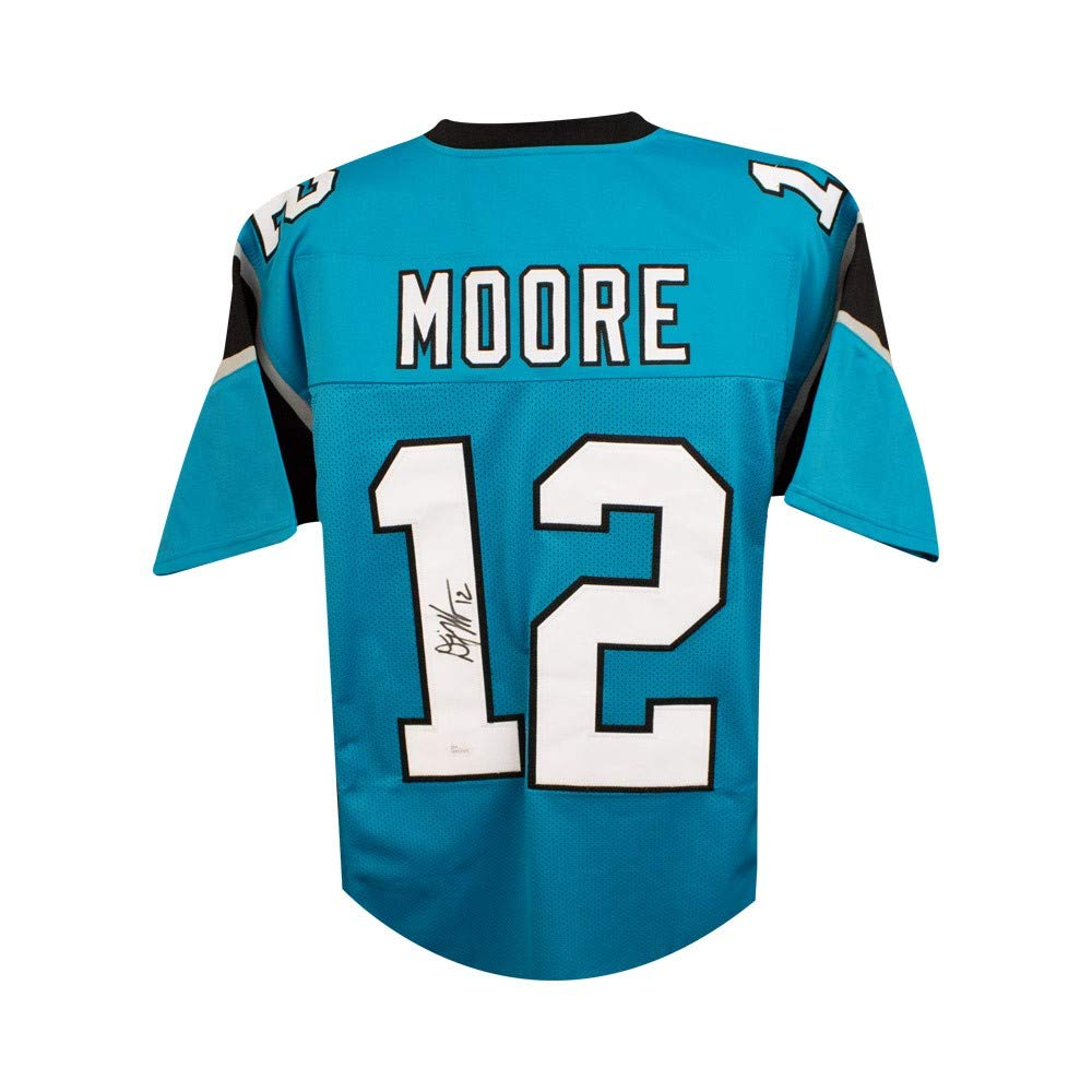 outlet store 48034 bbf6c D.J. Moore Autographed Carolina Panthers Custom Football ...
