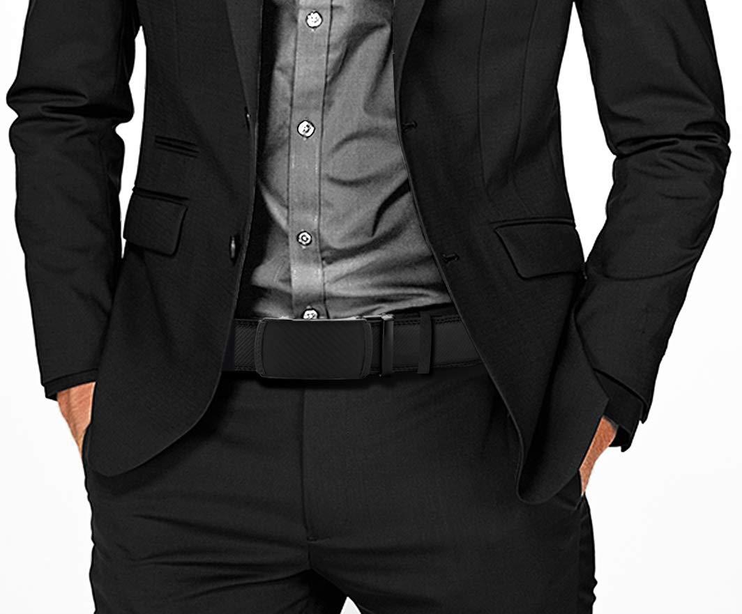 Men/'s Belt Slide Ratchet Belt for Men with Genuine Leather 1 3//8 Trim to Fit