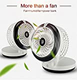 Mini USB fan, air humidifiers for bedroom, Vacio Foldable...