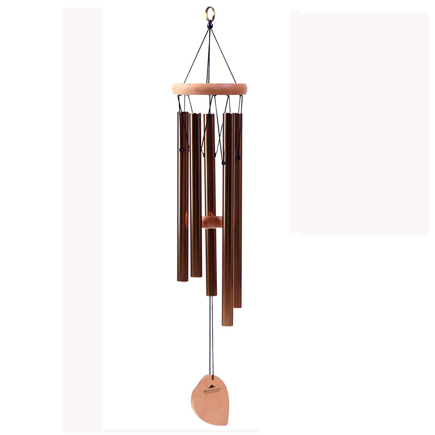5pcs Wooden Wind Turn Wind Chimes Outdoor Yard Garden Home Party Decor Gift