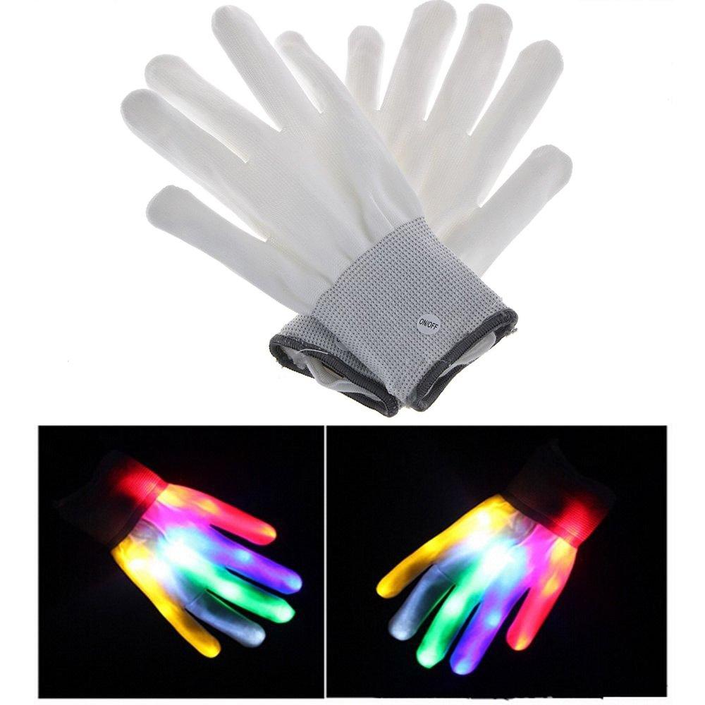 Novadeal LED Flashing Finger Lighting Gloves Colorful Rave Gloves 7 Colors Light Show, Light-up Toys, For Concert/Dance Halls/Bars/Stage Performances