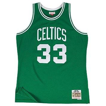 Mitchell   Ness Larry Bird  33 Boston Celtics 1985-86 Swingman NBA Jersey  Green e800f6152