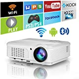 HD Bluetooth Wireless 1080P LED Home Theatre Projector HDMI Smart Android LCD Digital Movie Game Projector WiFi Airplay…