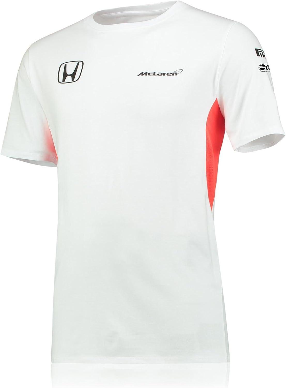 Camiseta McLaren Honda Oficial 2017 Equipo Set Up Blanca