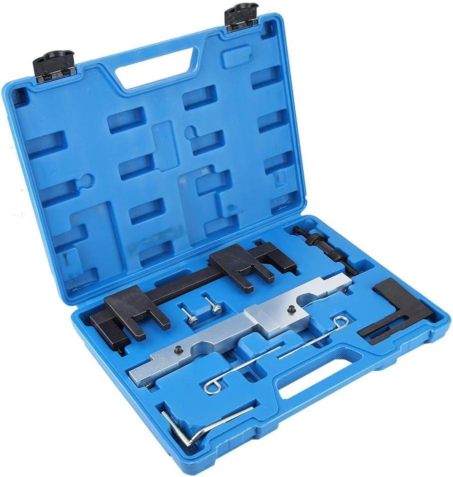 Motorsteuerungswerkzeug Motorsteuerungs-Nockenwellen-Einstell-Verriegelungswerkzeug-Kit Motoreinbau-Einstellwerkzeug-Set mit Aufbewahrungskoffer