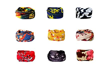 9pcs Assorted Seamless Outdoor Multifunctional Buff Sports Magic Scarf  Headwear 40e79a0729b