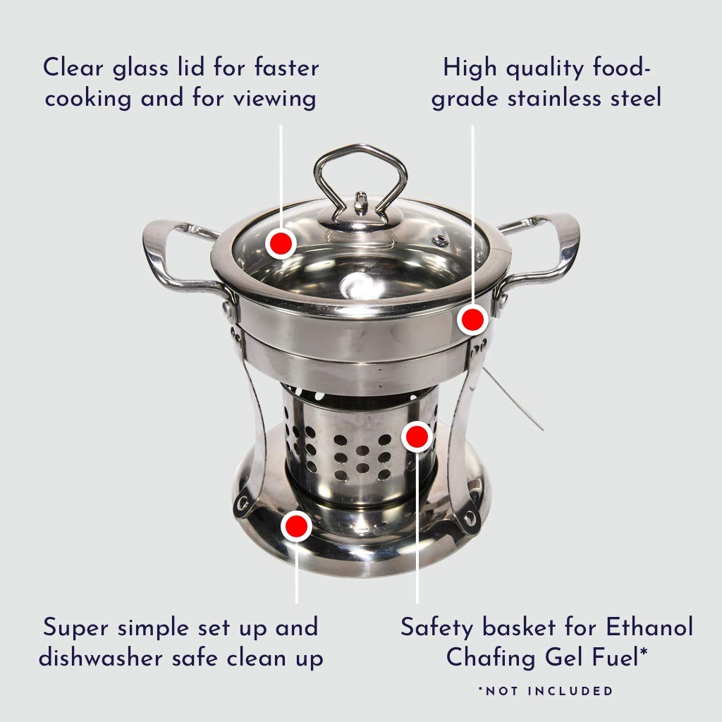 Hot Pot Shabu Shabu Pot Cooker. 2 Individual Hot Pots Great for Entertaining and for Personalizing your own Chinese Hot Pot at Home. Set of 2.