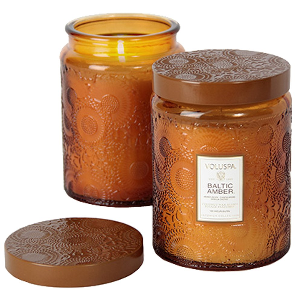 Voluspa Baltic Amber Large Glass Jar Candle 16 oz by Voluspa