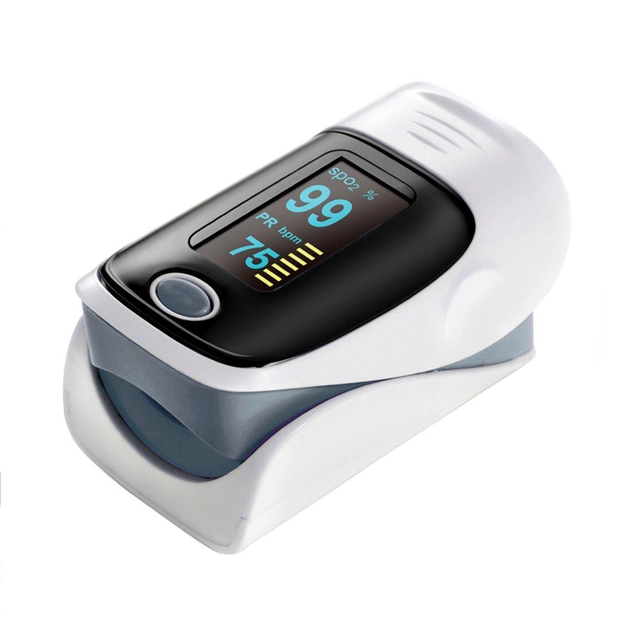 QUMOX Pulso Dedo Oxigeno Pulsioximetro Pulse Oximeter Pulsómetros Oximetro Púrpura: Amazon.es: Deportes y aire libre