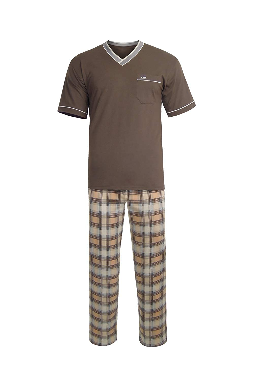 E.VIP Herren Schlafanzug Paul Paul Paul SL 738 mit Kurz Arm Shirt und Lange Hose aus Reiner Baumwolle B07Q4BHL6G Schlafanzüge Elegante und stabile Verpackung f17738