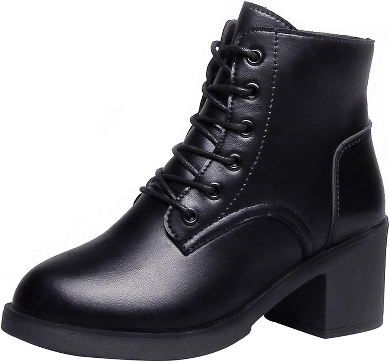 Womens side zipper lace up combat riding boots ankle platform oxford punk shoes