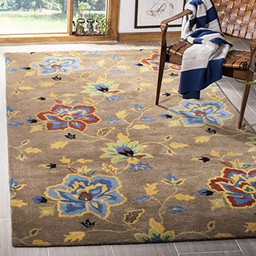 Safavieh Soho Collection SOH847A Handmade Brown and Multi Premium Wool Area Rug 7 6 x 9 6