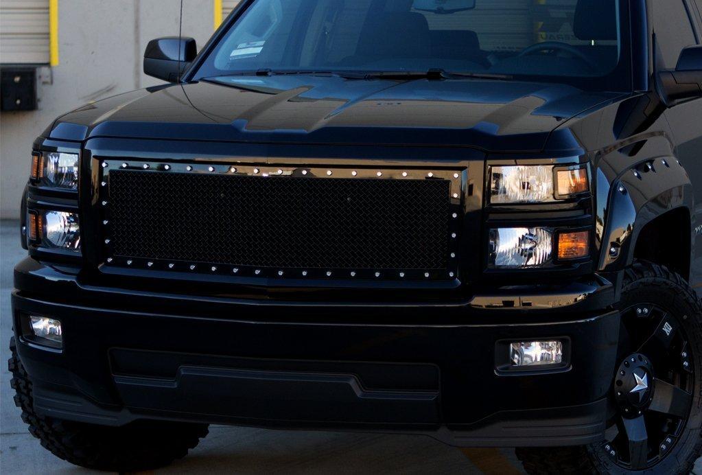 Amazon.com: Razer Auto Gloss Black Rivet Studded Frame Mesh Grille ...