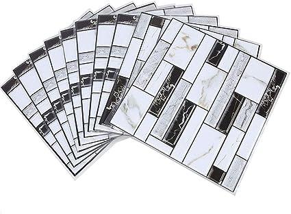 Fulllove 10 Pezzi Adesivi Piastrelle Muro 3d Pvc Mattonelle Auto Adesivo Decorativo Gel Rivestimento Parete Cucina Bagno Mosaico 30 X 30 Cm Amazon It Casa E Cucina