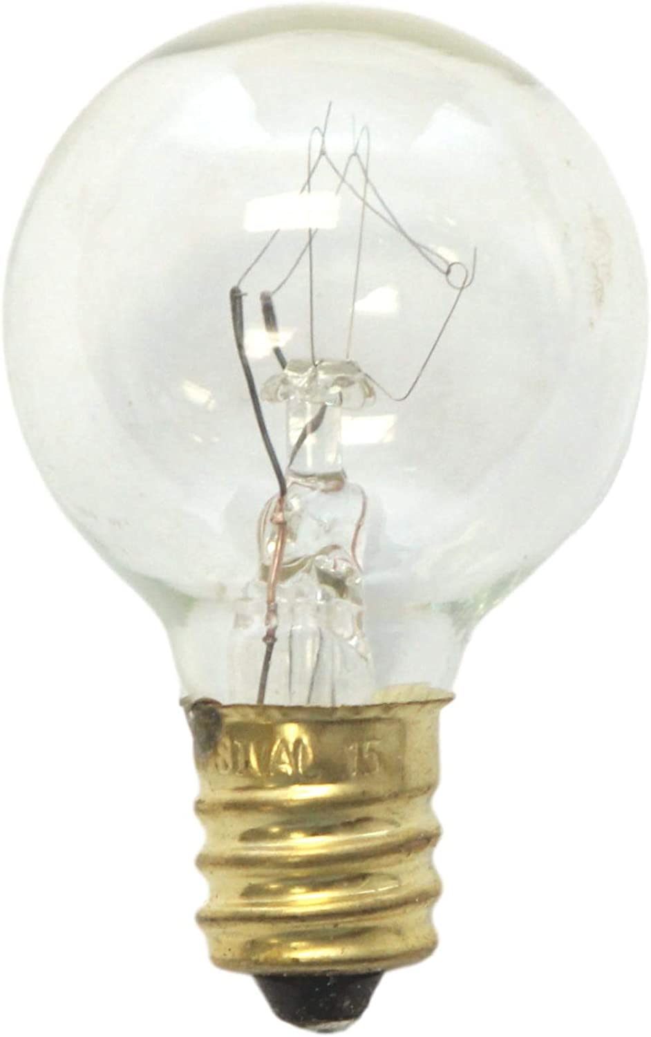 25 Pack NEW Replacement Light Bulbs 5W 120V E-12 Candelabra Base C7 Clear