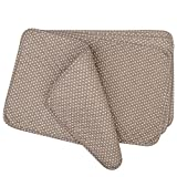 quilted table placemats - Neoviva Floral Fabric Quilted Placemats, Set of 4 Sheets, Polka Dots Gray Brown