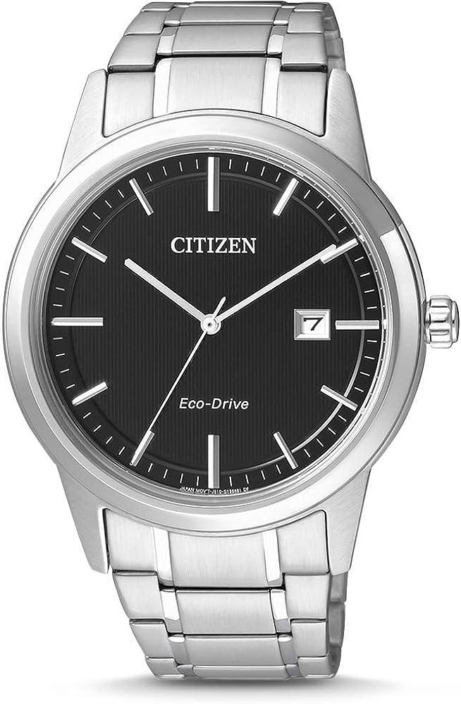 Citizen–Reloj de Pulsera para Hombre XL analógico de Cuarzo Acero Inoxidable aw1231–58E