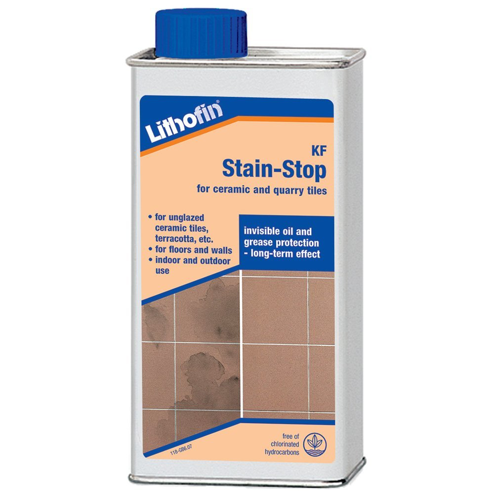 Lithofin kf stain stop for unglazed ceramic quarry tiles 1ltr lithofin kf stain stop for unglazed ceramic quarry tiles 1ltr amazon kitchen home dailygadgetfo Gallery