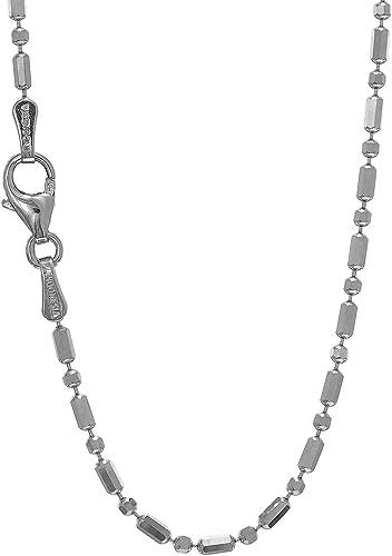 "30/"" 14k White Gold 1.2mm Diamond-Cut Spiga Chain Necklace 6/"""