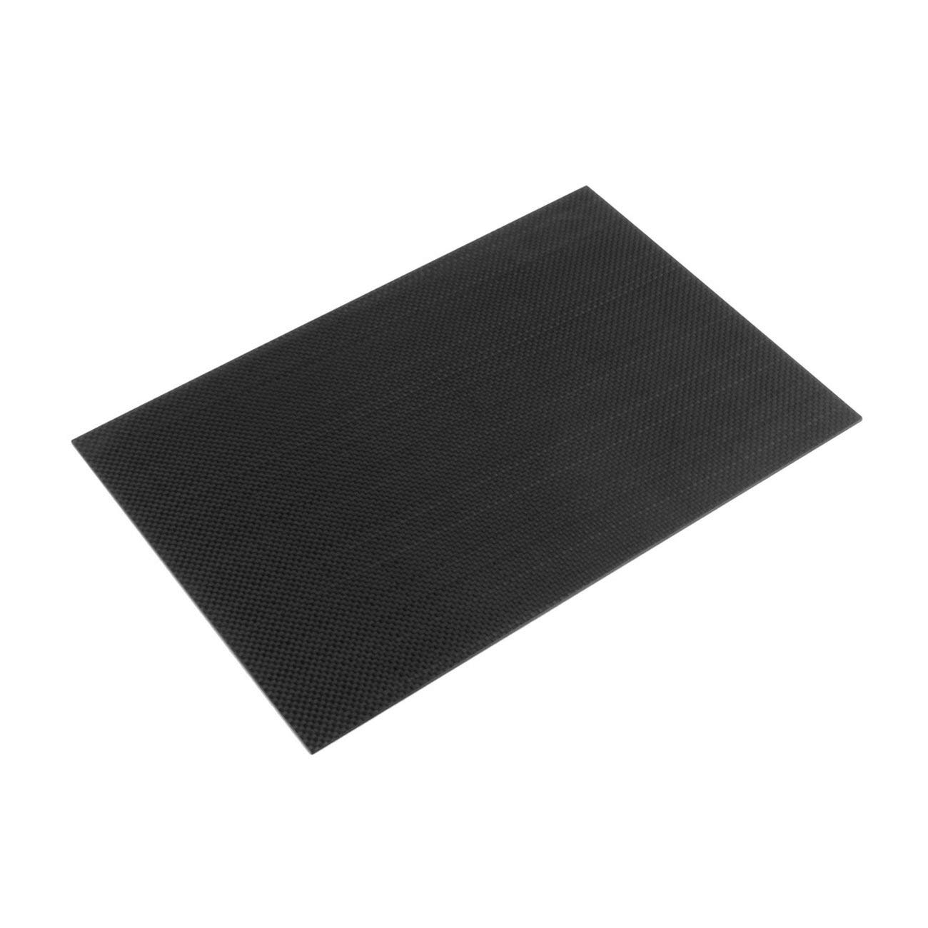 Panel de placa de fibra de carbono de 2, 0 * 200 * 300 mm. Superficie de brillo liso 3K. Jiobapiongxin