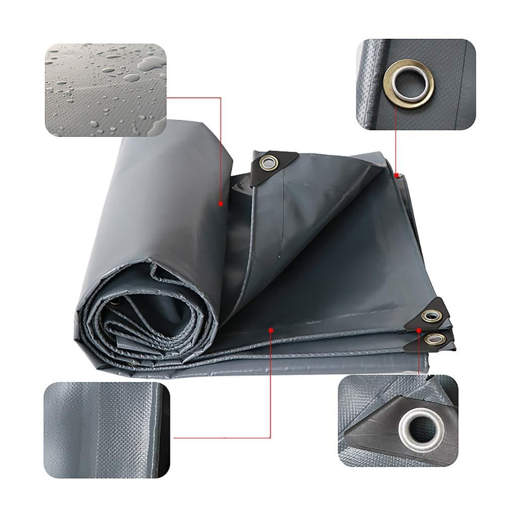 防水シートプラス厚い防雨布シェード日焼け止め布防塵布屋外両面防水PVCナイフ掻き布トラック防水シート (サイズ さいず : 5*6m) 5*6m  B07QK5VL5Q