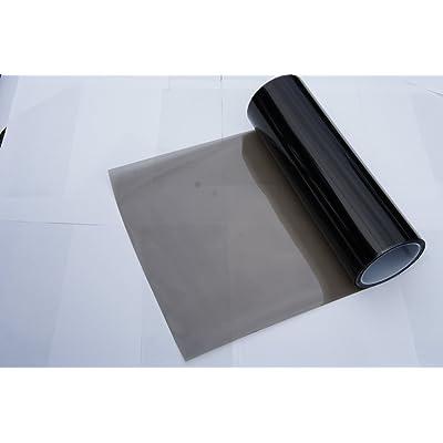 iJDMTOY 12 by 48 inches Self Adhesive 20% Dark Black Headlights, Tail Lights, Fog Lights Tint Vinyl Film: Automotive