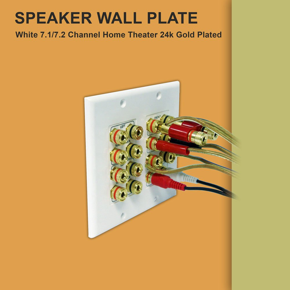 71 72 Home Theater Wallplate 24k Gold Plated Electrical Wiring Audio
