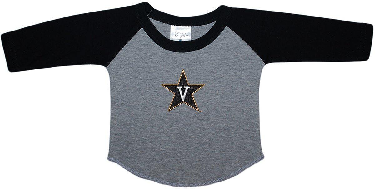 Vanderbilt University Commodores Baby and Toddler 2-Tone Raglan Baseball Shirt