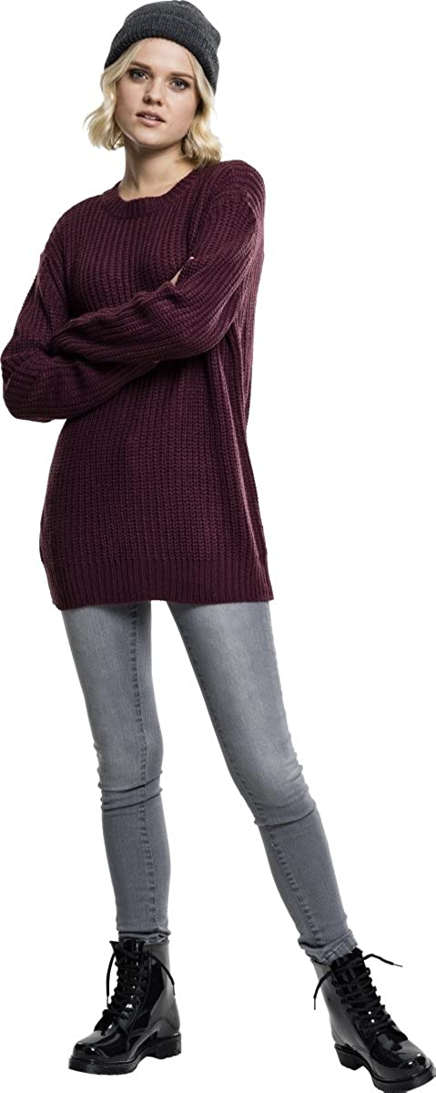 Urban Classics Womens Ladies Basic Crew Sweater Jumper