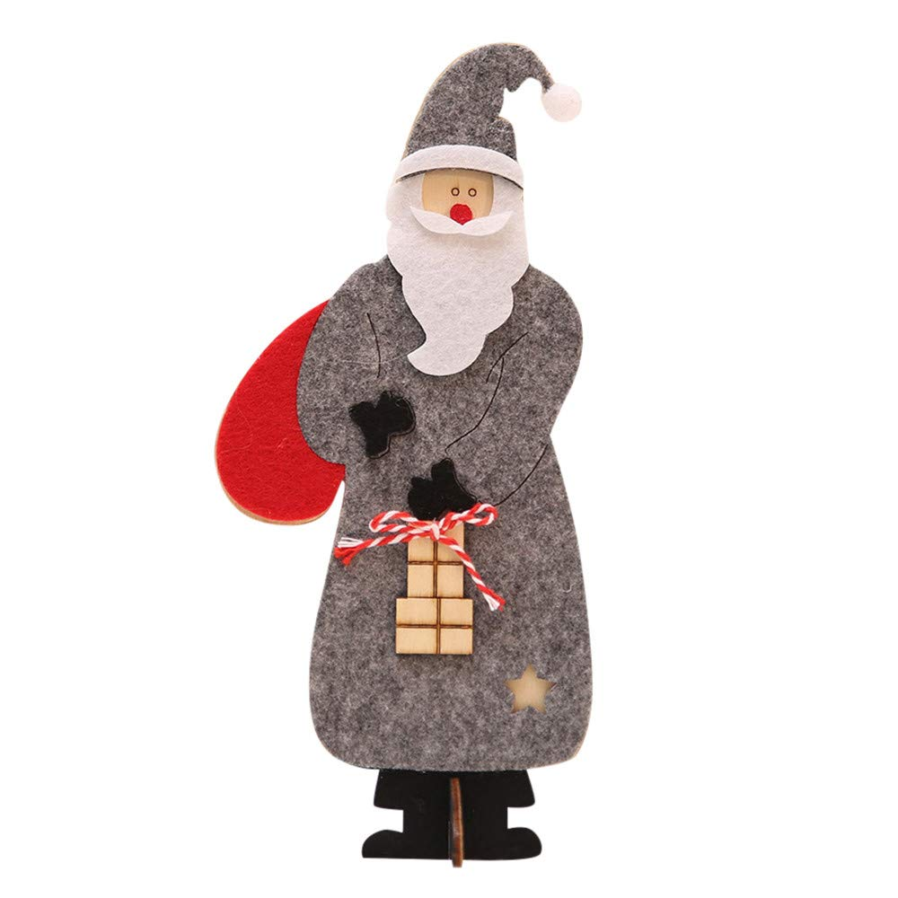 Home Decor,Pandaie Christmas Decorations Clearance Wooden Christmas Santa Claus Assembling Crafts Home Decor Ornaments