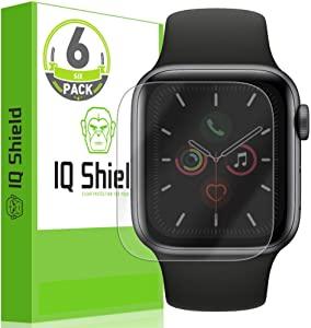 IQ Shield Screen Protector Compatible with Apple Watch Series 5 (40mm)(6-Pack)(Apple Watch Series 6) LiquidSkin Anti-Bubble Clear Film