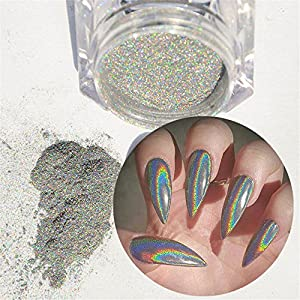 NICOLE DIARY 0.5g Holographic Nail Powder Laser Nail Art Pigment Glitter Powder Manicure Nail Art Decoration