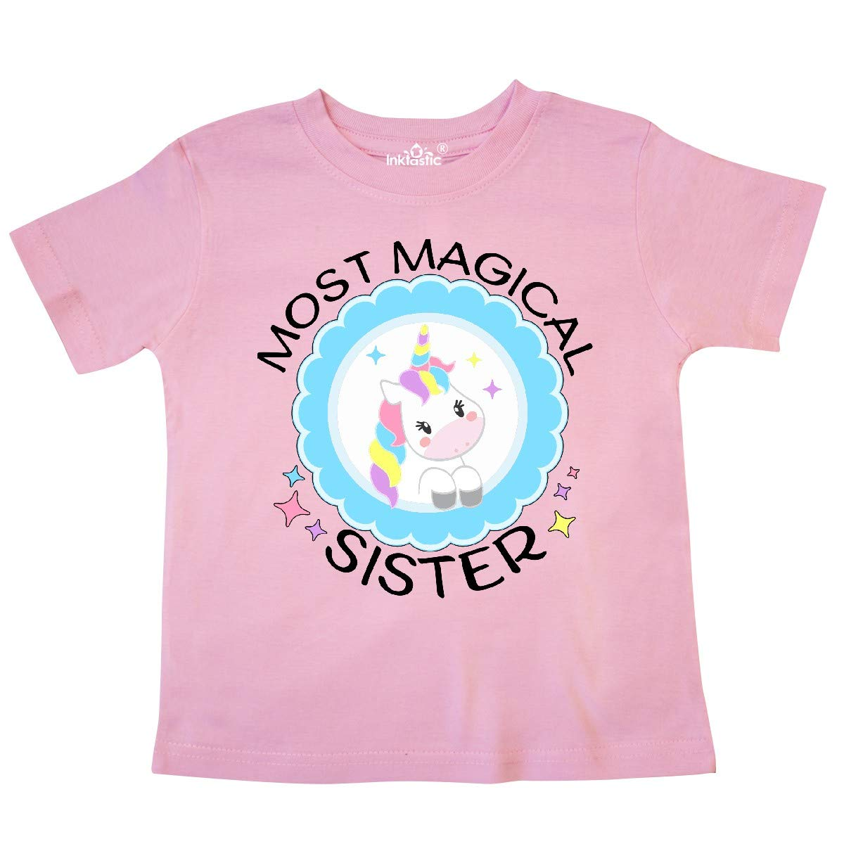 inktastic Most Magical Sister Cute Unicorn Badge Toddler T-Shirt