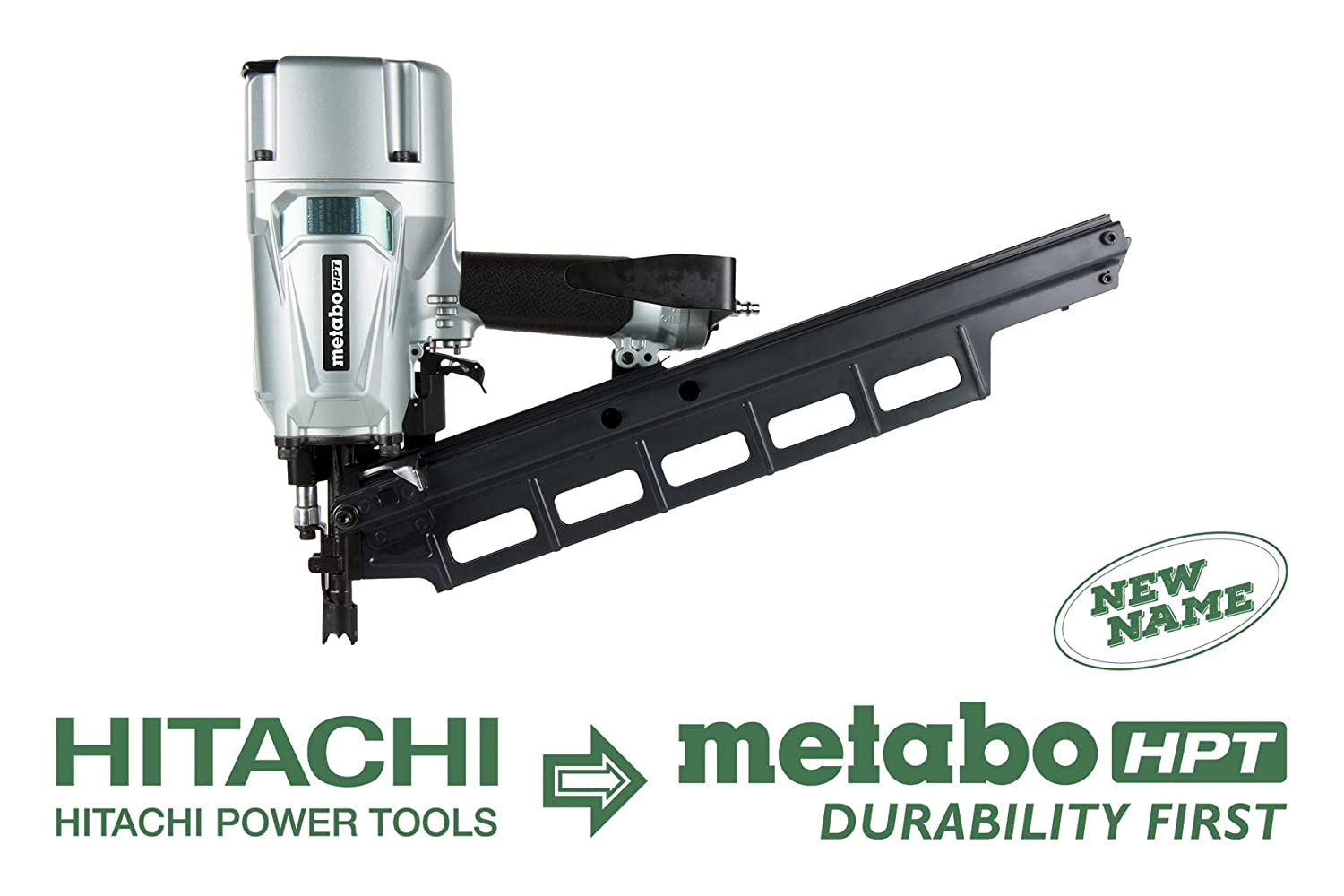Metabo HPT NR83A5 Pneumatic Framing Nailer, 2-Inch up to 3-1/4-Inch Plastic Collated Full Head Nails, Tool-less Depth Adjustment, 21 Degree Magazine, Selective Actuation Switch, 5-Year Warranty