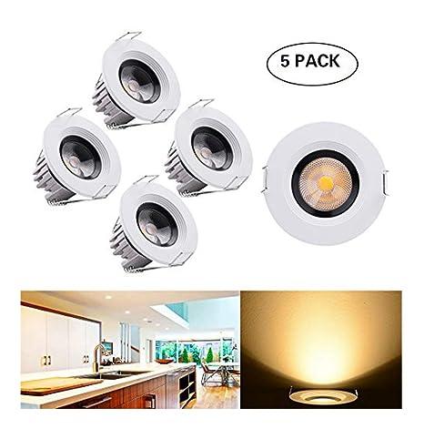 5x LED Spot Einbaustrahler Decken Strahler Mini Einbauleuchte Lampe Weiß//Chrome
