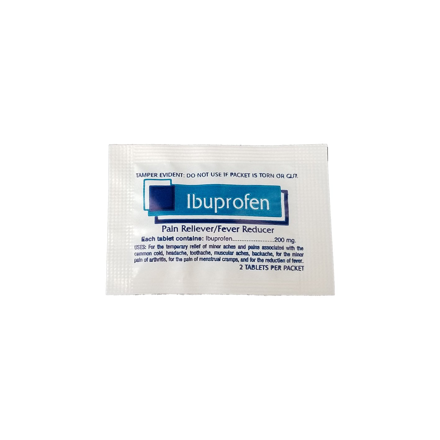 Amazon.com: Ibuprofen 200mg Travel Packets with dispenser box - Great for First Aid Kit and workplaces - 50 packets of 2: Health & Personal Care