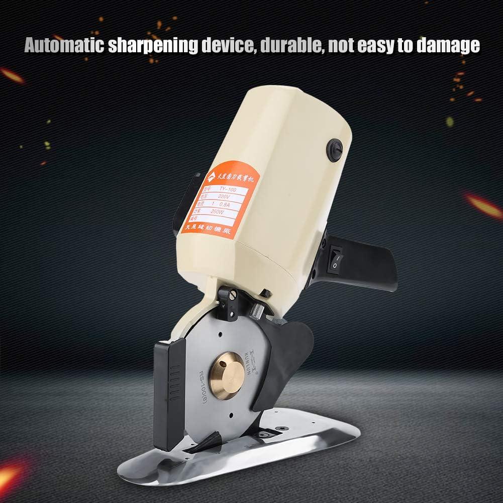tagliatrice ad Alta velocit/à Rotonda Automatica del Tessuto per Lana di Cuoio del Multi Panno 220V EU FTVOGUE Taglierina elettrica del Panno TY-100