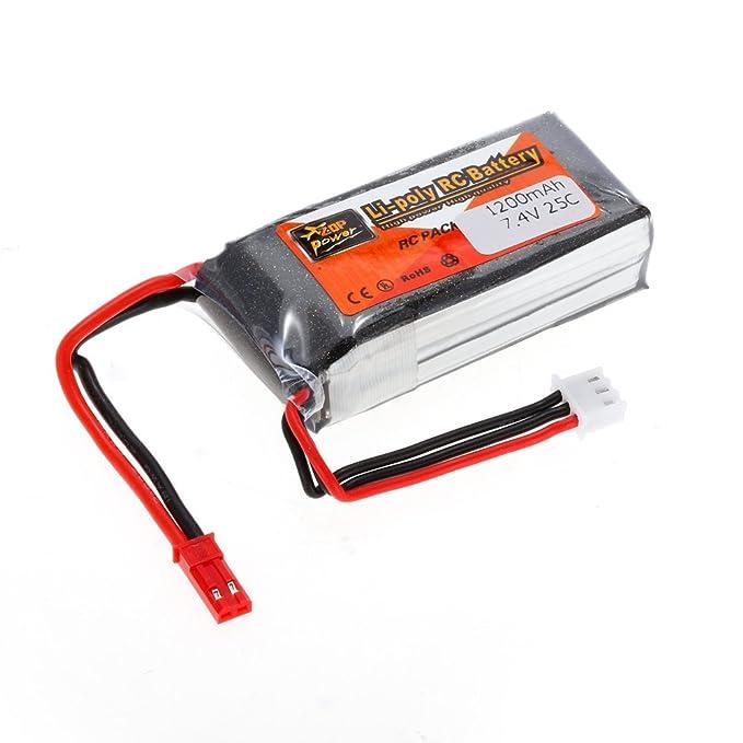Goolsky Batería del LiPo de la energía 2S 7.4V 1200mAh 25C JST de ...