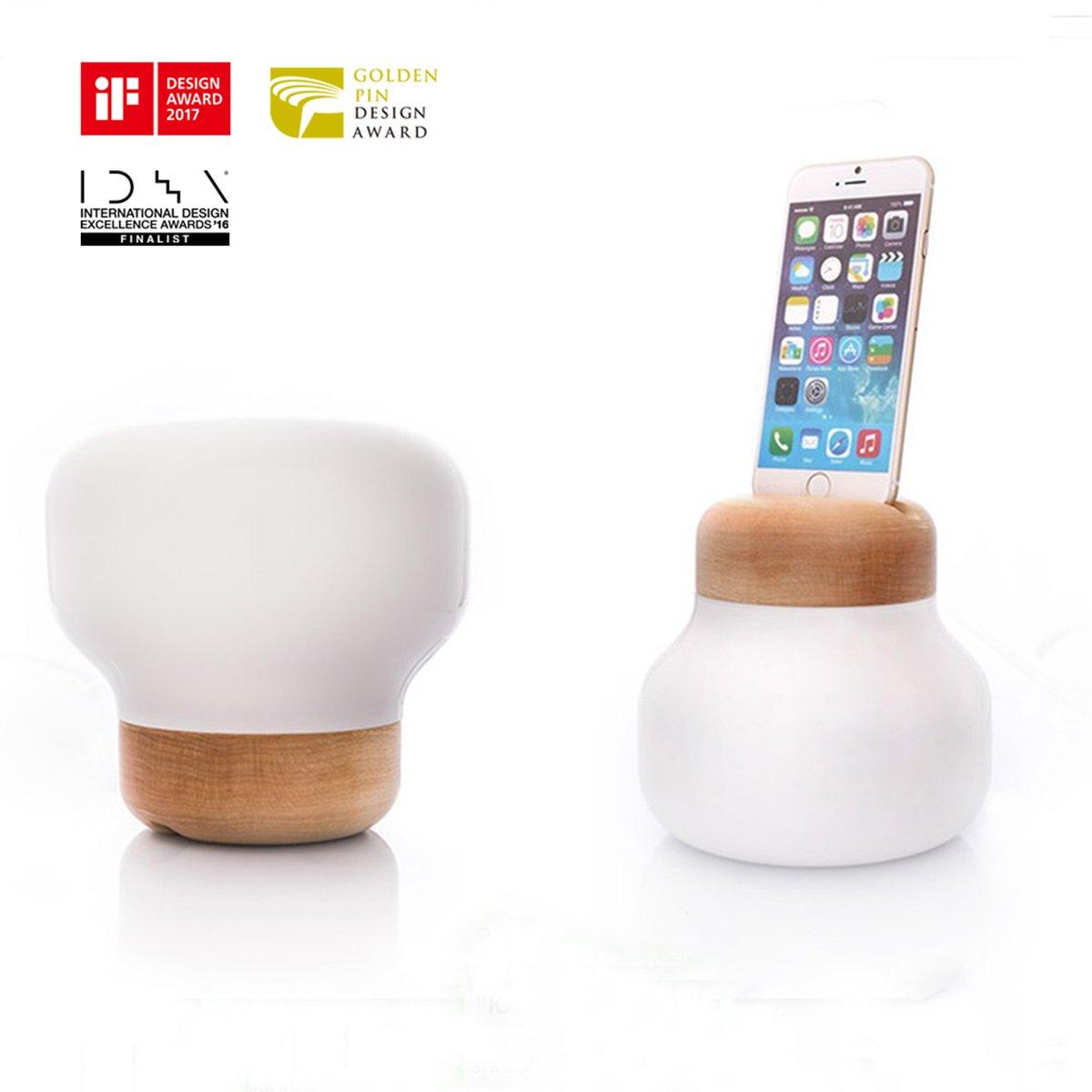 dimmung lampada da tavolo IDMIX X zision portatile lampada da tavolo led lampada da tavolo lampada da comodino, Docking Station per Ricarica e Sincronizzazione Lightning da (MFi certificato, per iPhone 5/5S/5C, iPhone 6/6S, iPhone 6Plus/6S Plus, iPhone 7