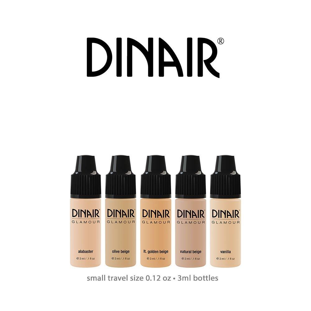 Mini Trial Size Bottles Dinair Airbrush Makeup Foundation | Fair Shades | GLAMOUR: Natural, Light - Medium Coverage