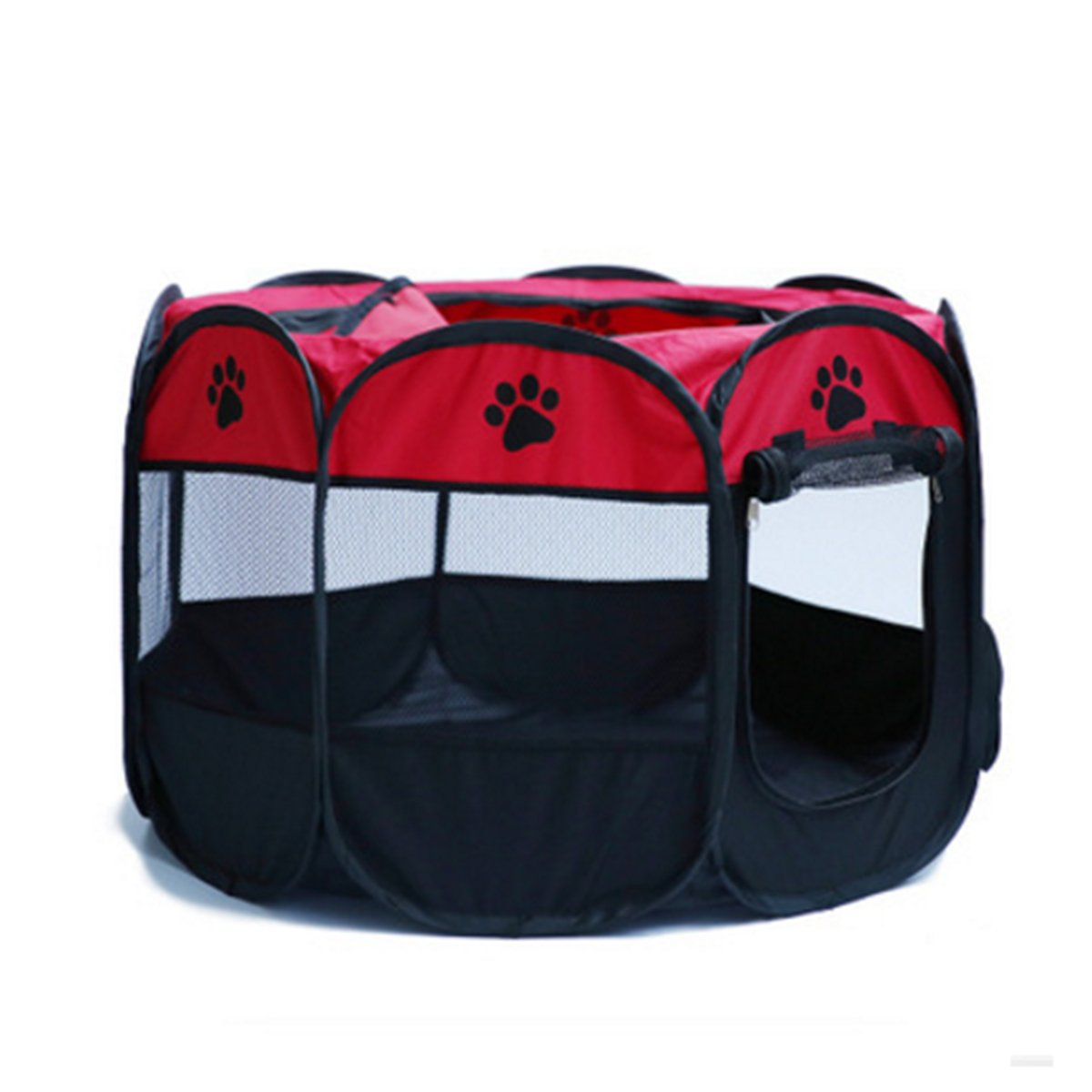 MESASA Portable Foldable Pet Playpen, Indoor/Outdoor, Dog/Cat/Puppy Exercise pen Kennel, Removable Mesh Shade Cover, dog pop up silhouettes pet pen (L, #4)