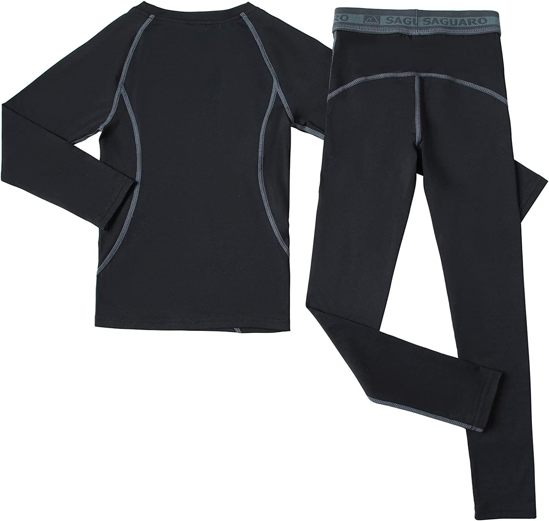 HAINES Kids Boys Girls Thermal Underwear Set Warm Fleece Lined Skiing Underwear Gr.110-158