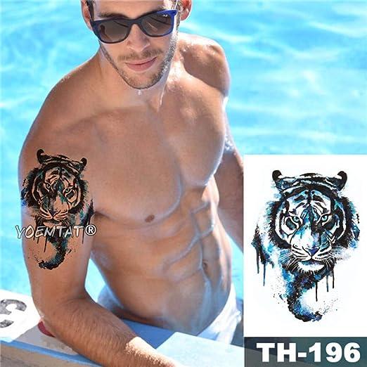 adgkitb 3 Piezas Impermeable Tatuaje Temporal Pegatina Bosque Lobo ...