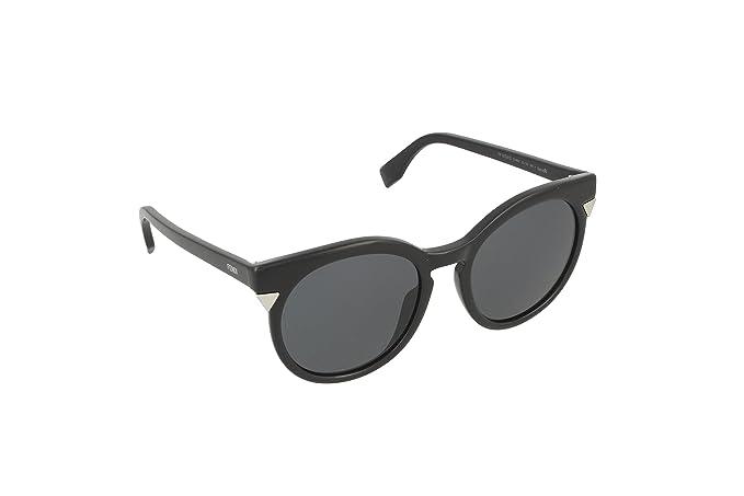Fendi FF 0124/S Bn Gafas de Sol, Shiny Black, 52 para Mujer ...