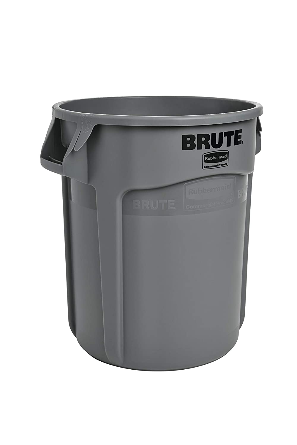 Rubbermaid Commercial Products FG262000GRAY BRUTE Heavy-Duty Round Trash/Garbage Can, 20-Gallon, Gray