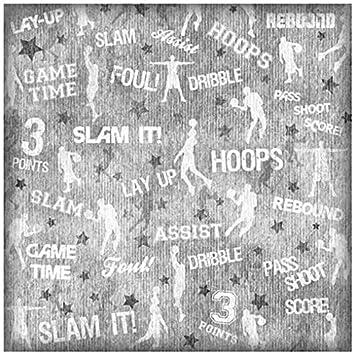 Slam Dunk Collage 25 Sheets Karen Foster Design Scrapbooking Paper 12 x 12 12 x 12 65026