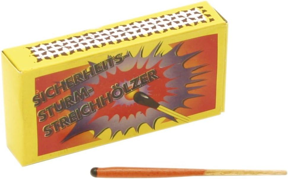 Weco Fuegos artificiales 250 Tormenta Cerillas/madera (10 cajas de Bengala a 25 unidades) Clase 1: Amazon.es: Hogar
