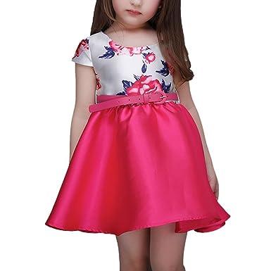 iPretty iPretty Kleine Mädchen Prinzessin Kleid mit Gürtel Blumen ...