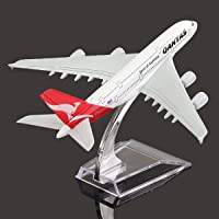 16cm Metal Plane Model Aircraft A380 Australia Qantas Aeroplane Scale Desk Toy